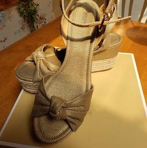 Michael Kors Mid Wedge Platform Sandal